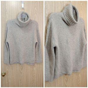 Olivaceous beige turtleneck sweater